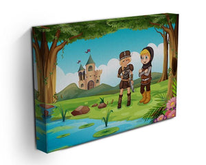two worriors standing in forest Canvas Print or Poster - Canvas Art Rocks - 3