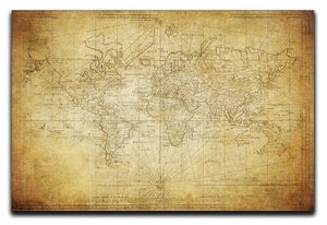 vintage map of the world 1778 Canvas Print or Poster  - Canvas Art Rocks - 1