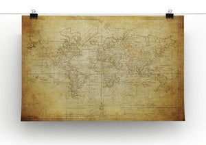 vintage map of the world 1778 Canvas Print or Poster - Canvas Art Rocks - 2