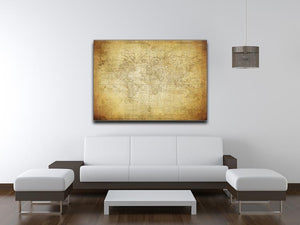 vintage map of the world 1778 Canvas Print or Poster - Canvas Art Rocks - 4