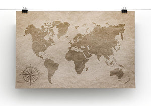 vintage paper with world map Canvas Print or Poster - Canvas Art Rocks - 2