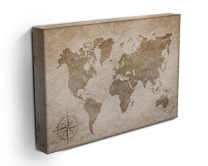 vintage paper with world map Canvas Print or Poster - Canvas Art Rocks - 3