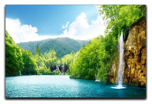 waterfall in deep forest Canvas Print or Poster  - Canvas Art Rocks - 1