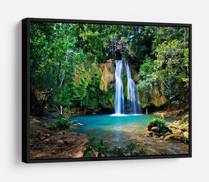 waterfall in deep green forest HD Metal Print - Canvas Art Rocks - 6