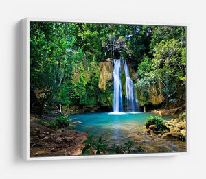waterfall in deep green forest HD Metal Print - Canvas Art Rocks - 7