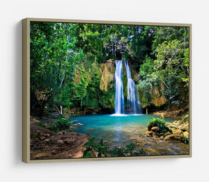 waterfall in deep green forest HD Metal Print - Canvas Art Rocks - 8