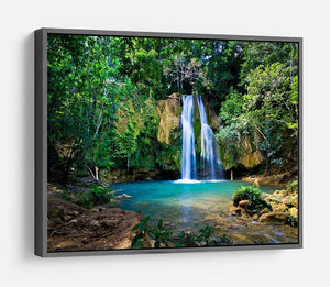 waterfall in deep green forest HD Metal Print - Canvas Art Rocks - 9