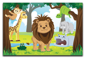 wild jungle animals in the animal kingdom Canvas Print or Poster  - Canvas Art Rocks - 1