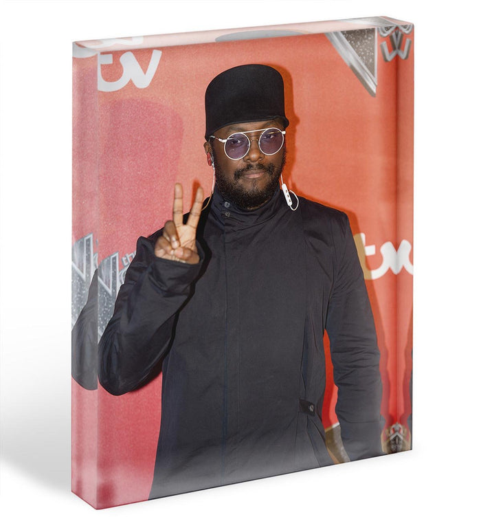 will I am in a hat Acrylic Block