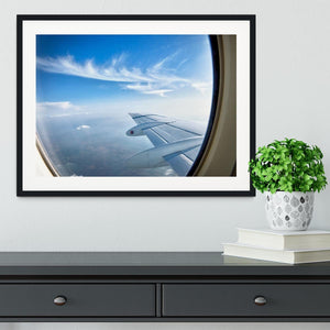 window aircraft during flight Framed Print - Canvas Art Rocks - 1