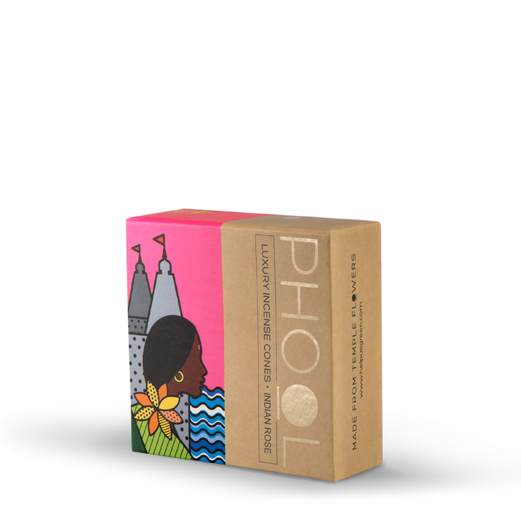 Phool Indian Rose Incense Cones