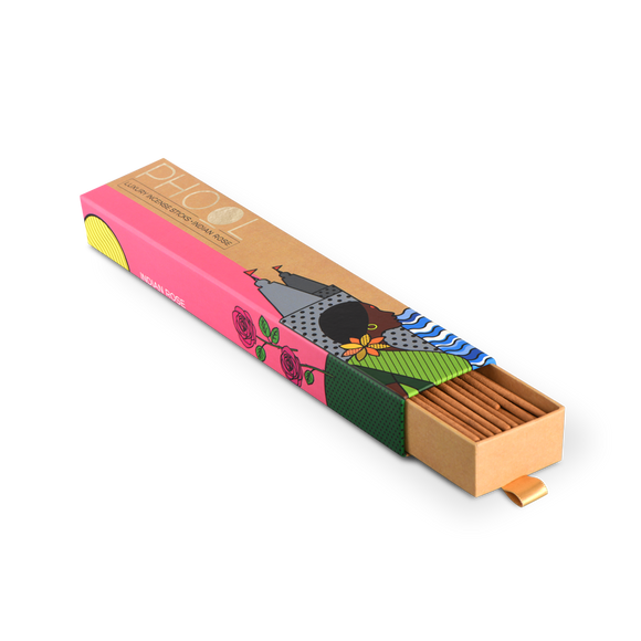 Phool Indian Rose Incense Sticks