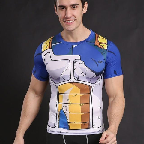 T Shirt D'entrainement Tenu Vegeta Dragon Ball Z