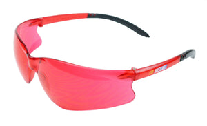 NASCAR GT by Encon Safety Glasses with Vermillion P/C Lens ScatchCoat Z87.1