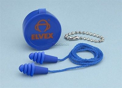 Elvex Quattro Reuseable ear plugs/hearing protection EP-412 5 pair