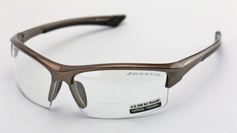 Elvex Sonoma™ RX350™ Bifocal Safety/Reading Glasses Clear 1.0 to 3.0 Mag Z87.1