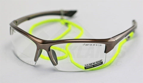 Image of Elvex Delta Plus Sonoma™ RX350™ Bifocal Safety/Reading Glasses Clear 1.0 to 3.0 Magnification KIT1