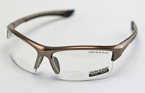 Image of Elvex Sonoma™ RX350™ Bifocal Safety/Reading Glasses Clear 1.0 to 3.0 Mag Z87.1