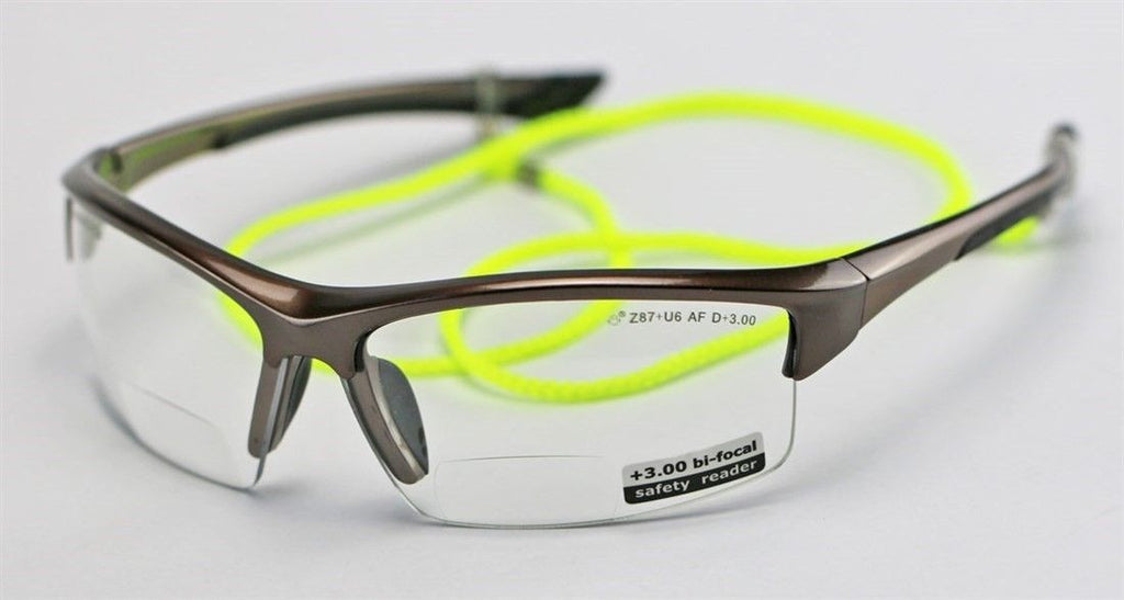 Elvex Delta Plus Sonoma™ RX350™ Bifocal Safety/Reading Glasses Clear 1.0 to 3.0 Magnification KIT1