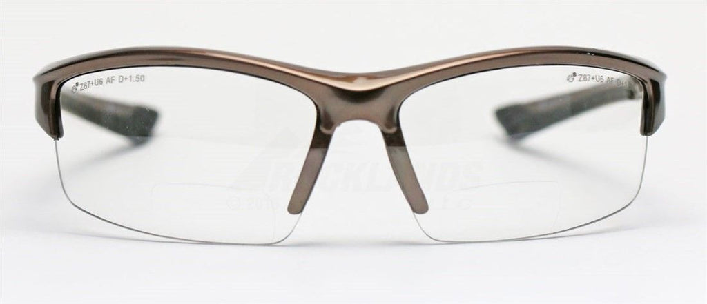 Elvex Sonoma RX350 Bifocal Safety/Reading Glasses Clear Lens 1.0 to 3.0 Magnification Kit 2