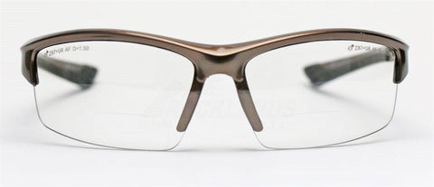Elvex Delta Plus Sonoma RX350 Bifocal Safety/Reading Glasses Clear Lens 1.0 to 3.0 Magnification Kit 2