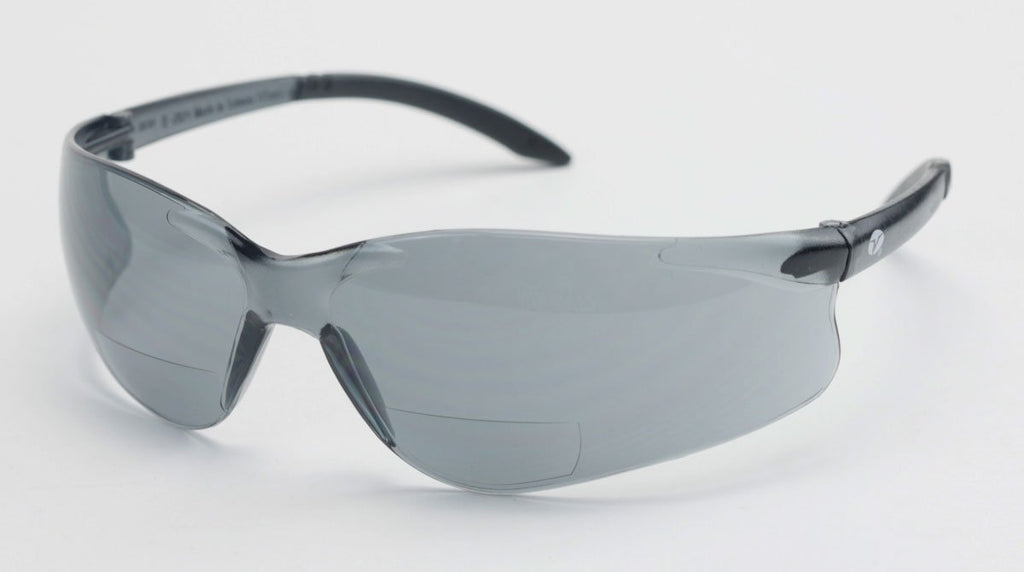 Encon Bifocal Safety Sun Glasses, 1.0 Magnification, Gray Lens with Scratch Coat, Z87.1