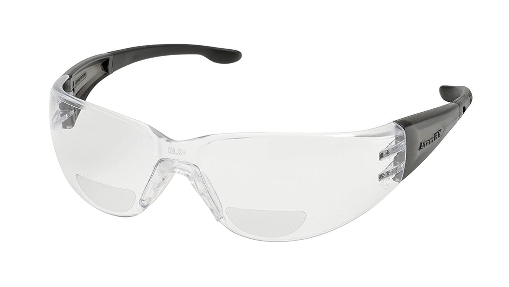 Elvex WELRX40115 RX-401 1.5 Clear Lens, Grey Temples/Black Tips
