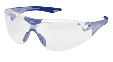 Elvex Delta Plus Avion Slim Fit Kids Shooting/Safety Glasses Clear Lens Blue Frame