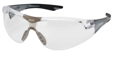 Image of Elvex Delta Plus Avion Slim Fit Kids Shooting/Safety Glasses Clear Lens Black Frame