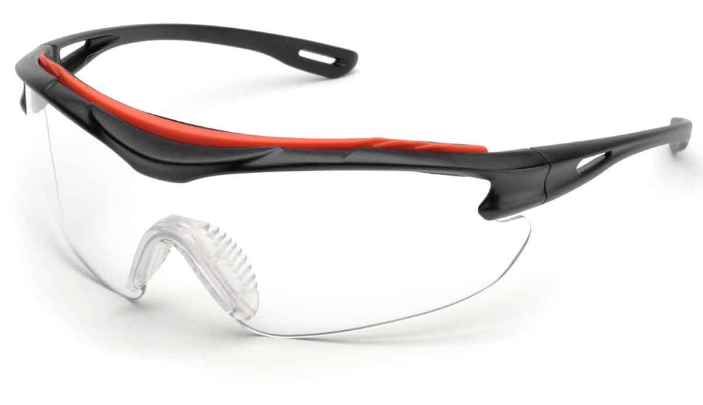 Elvex Delta Plus Brow-Specs Safety/Shooting Glasses Clear Anti-Fog Lens