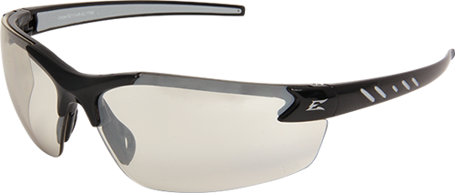 Edge Eyewear DZ111G Zorge Safety Glasses, Black with Clear Lens