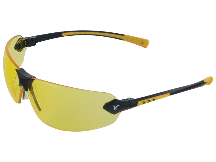 Encon Veratti 429 Safety Glasses Amber Lens Yellow Frame
