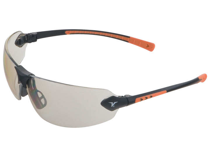 Encon Veratti 429 Safety Glasses Indoor/Outdoor Lens Black/Orange Frame