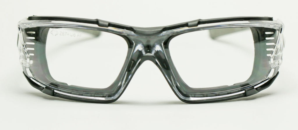 Elvex Go Specs IV Safety/Glasses/Goggles Clear A/F Dark Gray Temples Z87.1 WELGG-16CAF