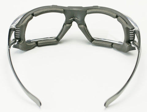 Image of Elvex Go Specs IV Safety/Glasses/Goggles Clear A/F Dark Gray Temples Z87.1 WELGG-16CAF