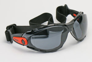 Elvex Go Specs Safety/Motorcycle/Sun Glasses/Goggles Smoke or Clear Anti-Fog Lens with Strap