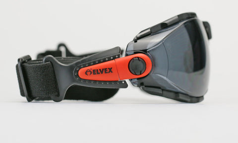 Elvex Go Specs Safety/Motorcycle/Sun Glasses/Goggles Smoke A/F Lens Z87.1