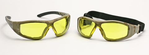 Image of Elvex Delta Plus Go Specs II G2 Safety Glasses/Goggles Anti-Fog Lens Camo Frame All Lens Colors