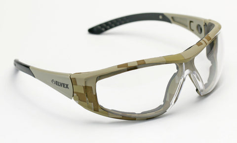 Elvex Delta Plus Go Specs II G2 Safety Glasses/Goggles Anti-Fog Lens Camo Frame All Lens Colors
