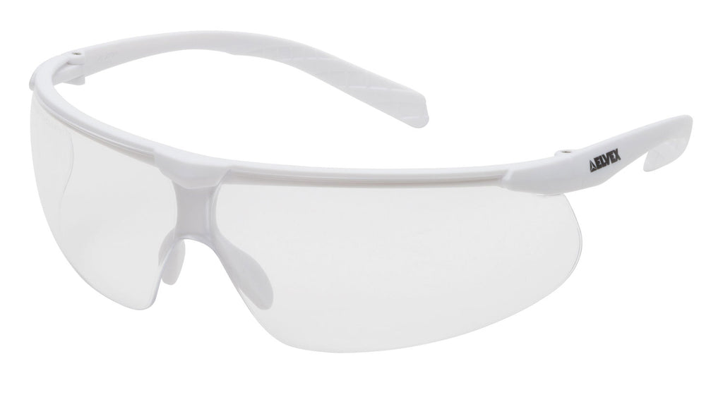 Elvex Delta Plus Helium 20 Safety Glasses White Frame with Clear Anti-Fog Lens