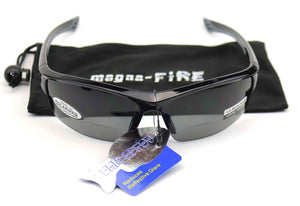 magna-FIRE MF3500 Bifocal Safety Glasses, Grey Polarized Lens