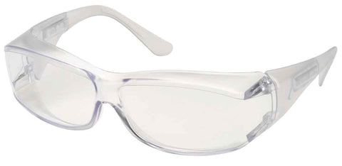Image of Elvex Delta Plus OVR Specs III Safety/Motorcycle Glasses Over Fit Glasses/Clear Lens Z87.1