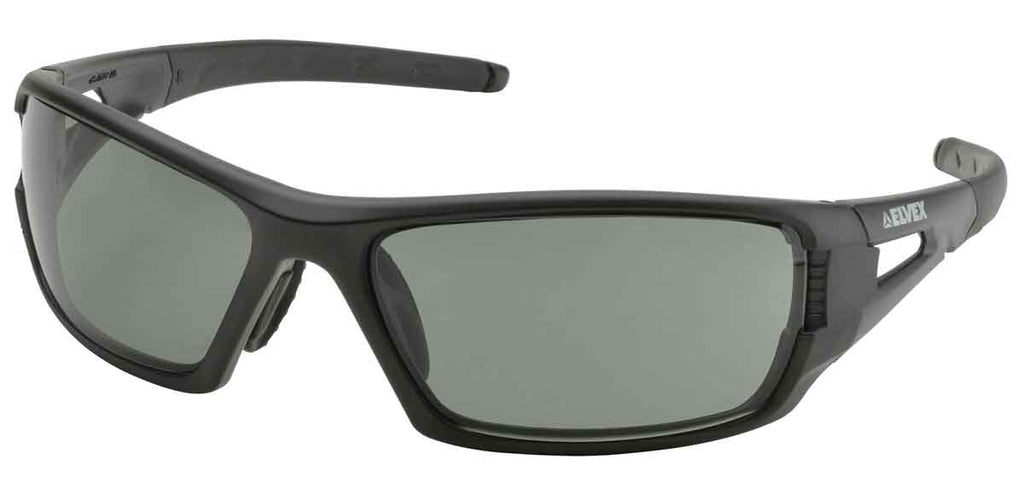 Elvex Impact Series RSG402 Ballistic Rated Safety, Sun Glasses, Grey Polarized Lens