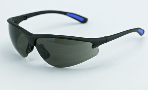 Image of Elvex RX300 Bifocal Safety/Reading/Sun Glasses Grey Lens, 1.5,2.0,2.5