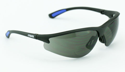 Elvex Delta Plus RX300 Bifocal Safety/Reading/Sun Glasses Grey Lens, 1.5,2.0,2.5