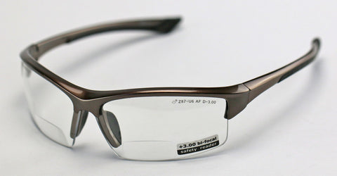 Elvex Delta Plus Sonoma™ RX350™ Bifocal Safety/Reading Glasses Clear 1.0 to 3.0 Mag Z87.1