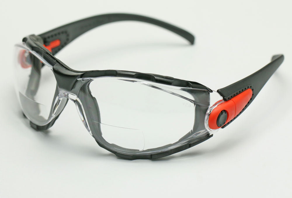 Elvex Go Specs Bifocal Safety/Reading Glasses/Goggles Clear 1.5,2.0,2.5