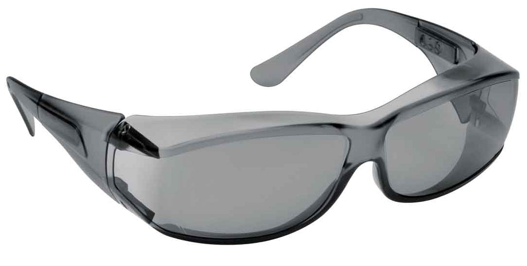 Elvex Delta Plus OVR Specs III Safety/Motorcycle/Sun Glasses Over Fit Glasses/Grey Lens