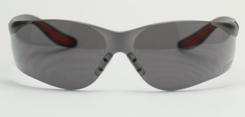Elvex Xenon™ Safety/Sun Glasses Grey Lens, Anti Fog Version - Black/Red Frames  SG14G- Z87.1
