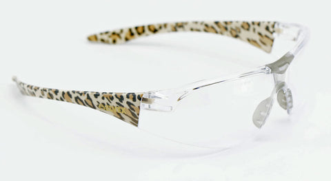 Elvex Avion™ Safety/Tactical/Shooting/Glasses Leopard Style Frame Women Z87.1